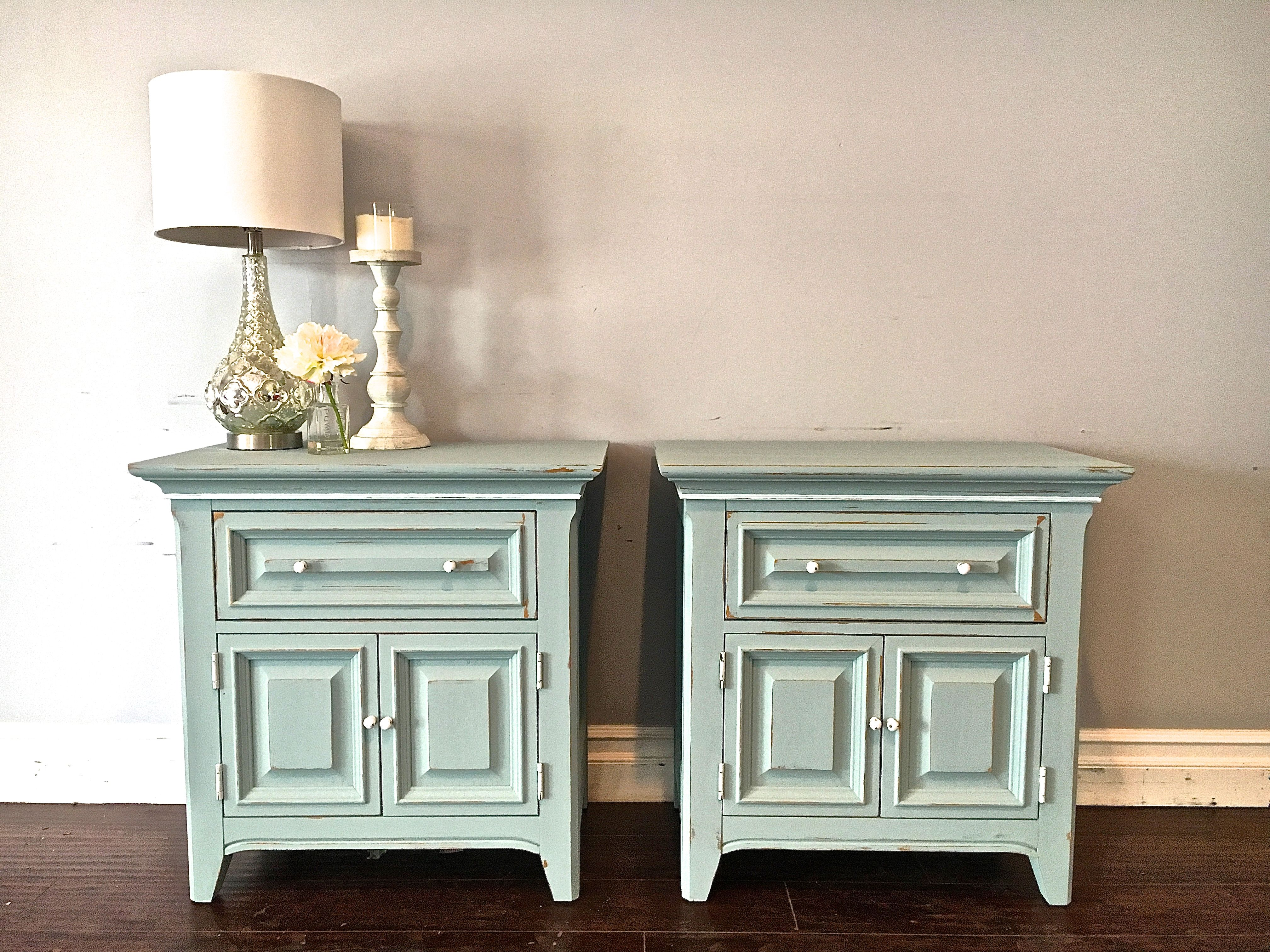 Light Blue White Nightstands 200 Sold Selling Furniture Decor Refinishing Furniture
