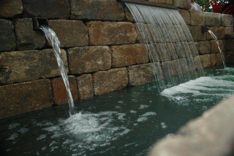 Cataratas Y Cascadas En El Jardin 75 Ideas Jardin Pinterest - Fuentes-de-piedra-de-pared