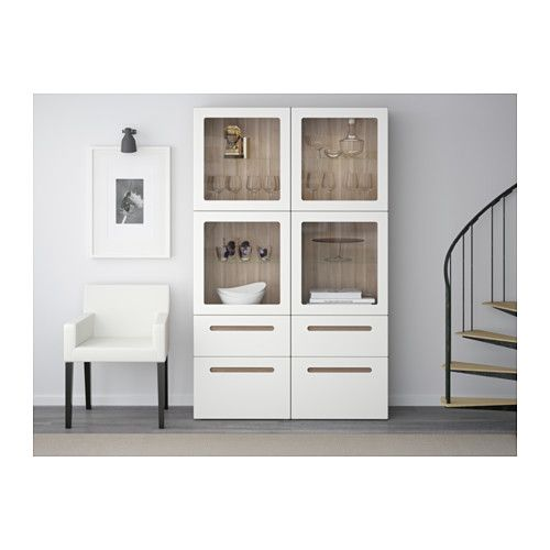 best vitrine grau las nussbaumnachb marviken klarglas. Black Bedroom Furniture Sets. Home Design Ideas