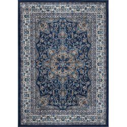 Arend Medallion Navy Blue Area Rug Decorating Ideas For
