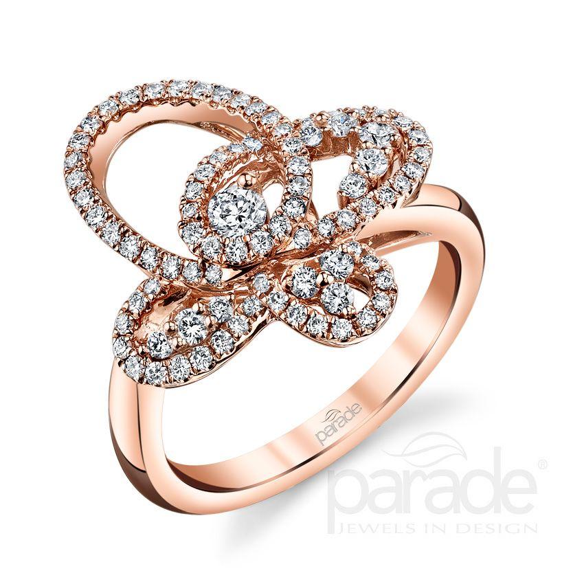 Feminine Logo Set In Gold Rose: #Capri #Jewelers #Arizona