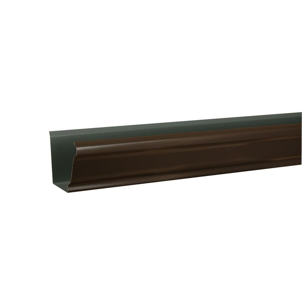 Amerimax Home Products 6 In X 10 Ft K Style Dark Bronze Aluminum Gutter Bronze Home Depot Dark