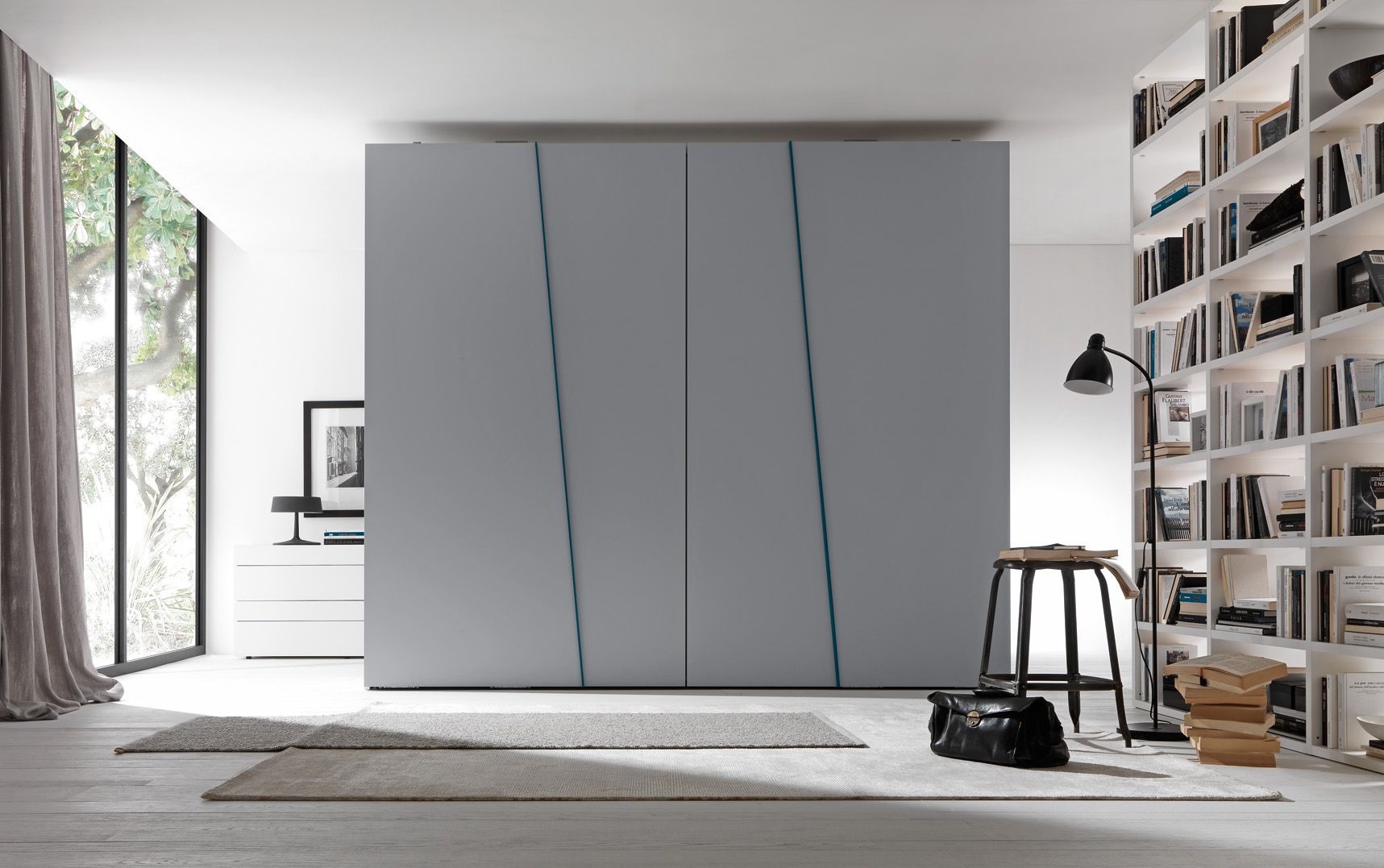 Presotto Wardrobe With Diagonal Coplanar Sliding Doors Design