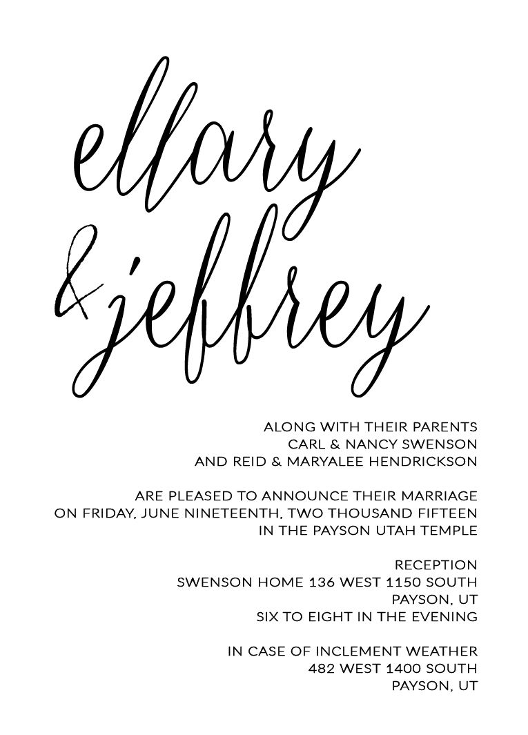 ellary and jeff utah announcements wedding pinterest