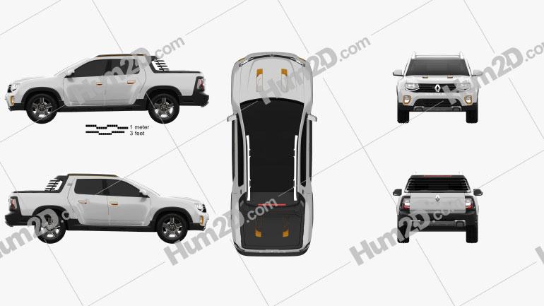 Renault Duster Oroch Concept 2015 Clipart Renault Duster Clip Art Renault