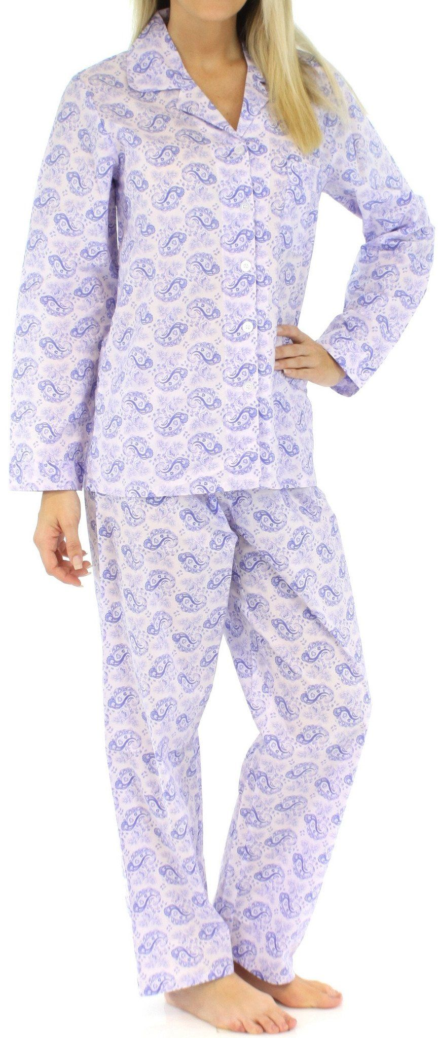 e57fb8791c Sleepyheads Women s Lightweight Cotton Pajamas. Our Sleepyheads poplin cotton  long sleeve ...