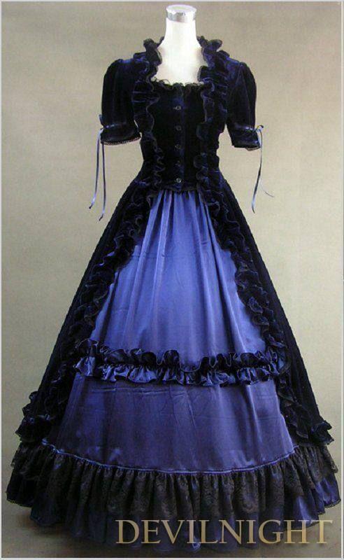 Simple Victorian Dresses Purple