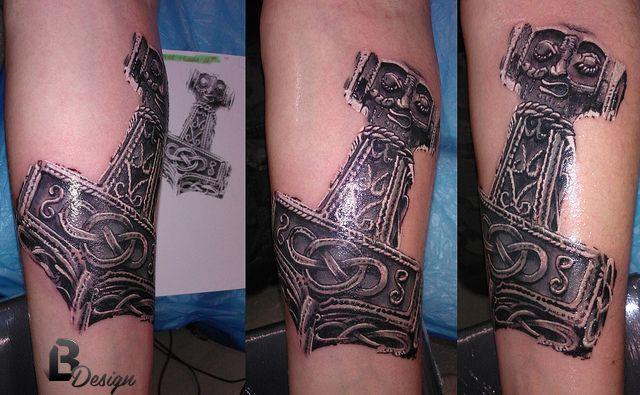 mjolnir thor s hammer tattoo artist lászló bódi bl design