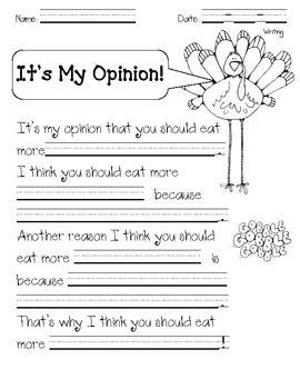 Turkey Opinion Writing | 2nd Grade Reading/LA | Thanksgiving
