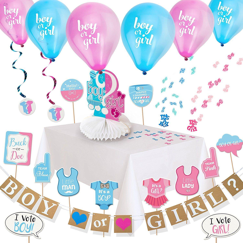 Amazon Com Artit Gender Reveal Party Decoration Supplies Baby