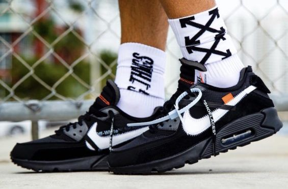 9f4dd1ad80f Release Date  OFF-WHITE x Nike Air Max 90 Black Going with the Desert