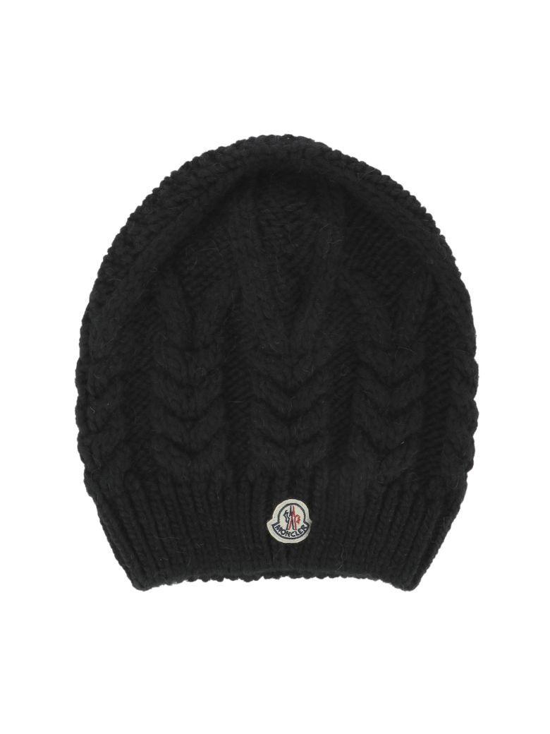MONCLER Black Wool Hat.  moncler   b8ffb968a7e