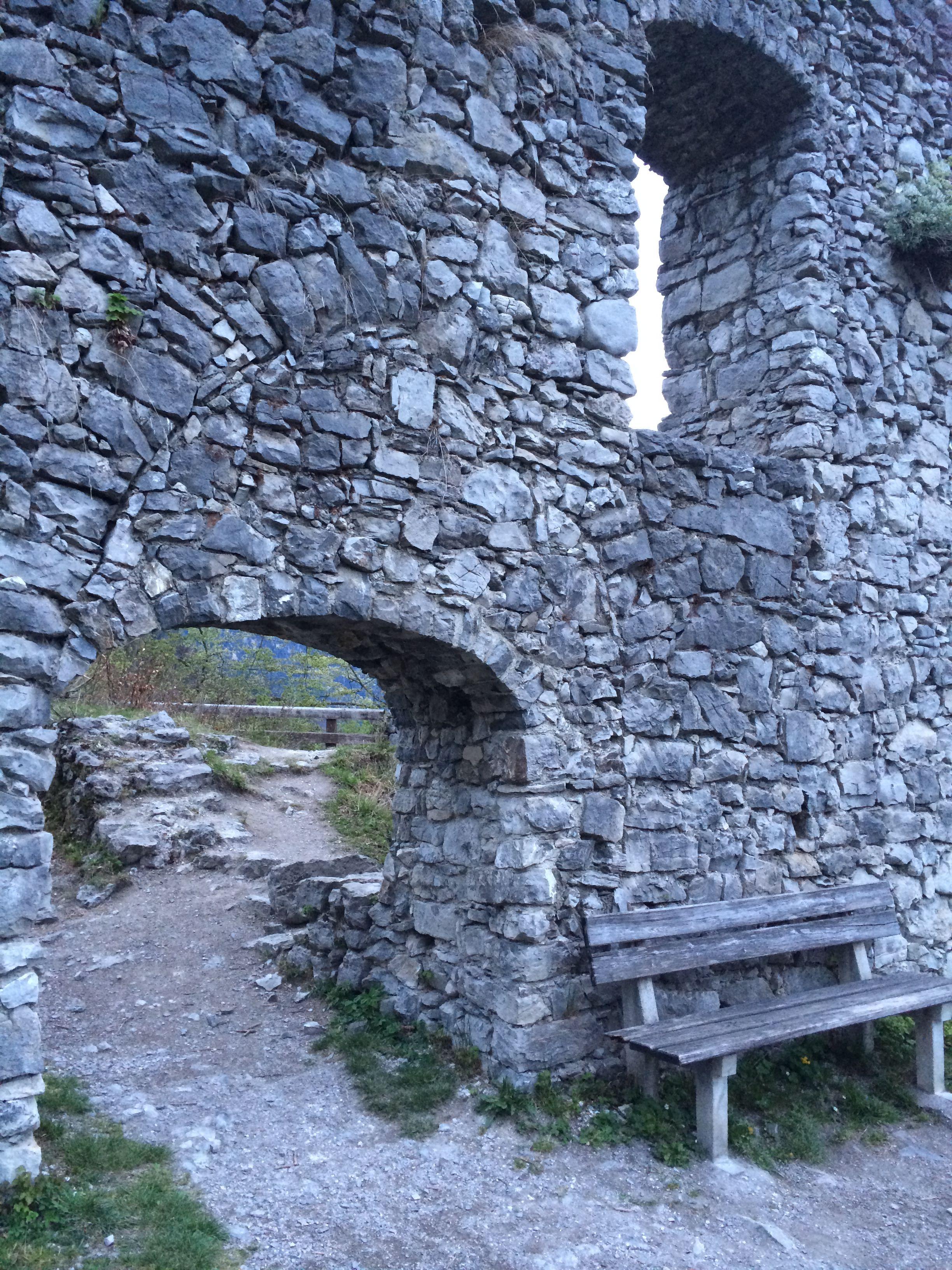 Werdenfels Castle Ruins Stone Wall Near Garmisch