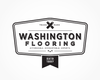 Washington Flooring Retro Vintage Logo Vintage Logo Logo Design Flooring