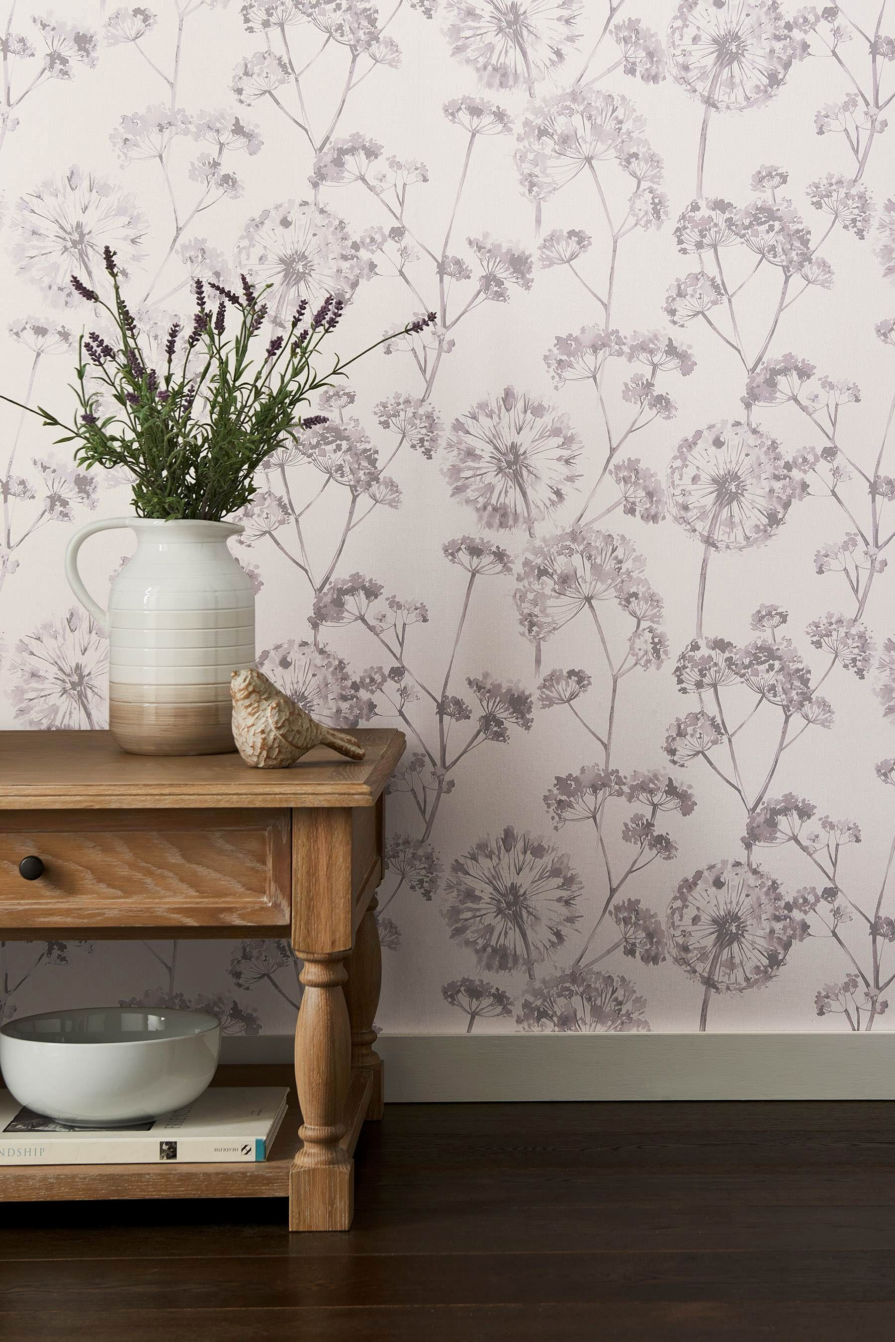 Buy Paste The Wall Allium Wallpaper from the Next UK