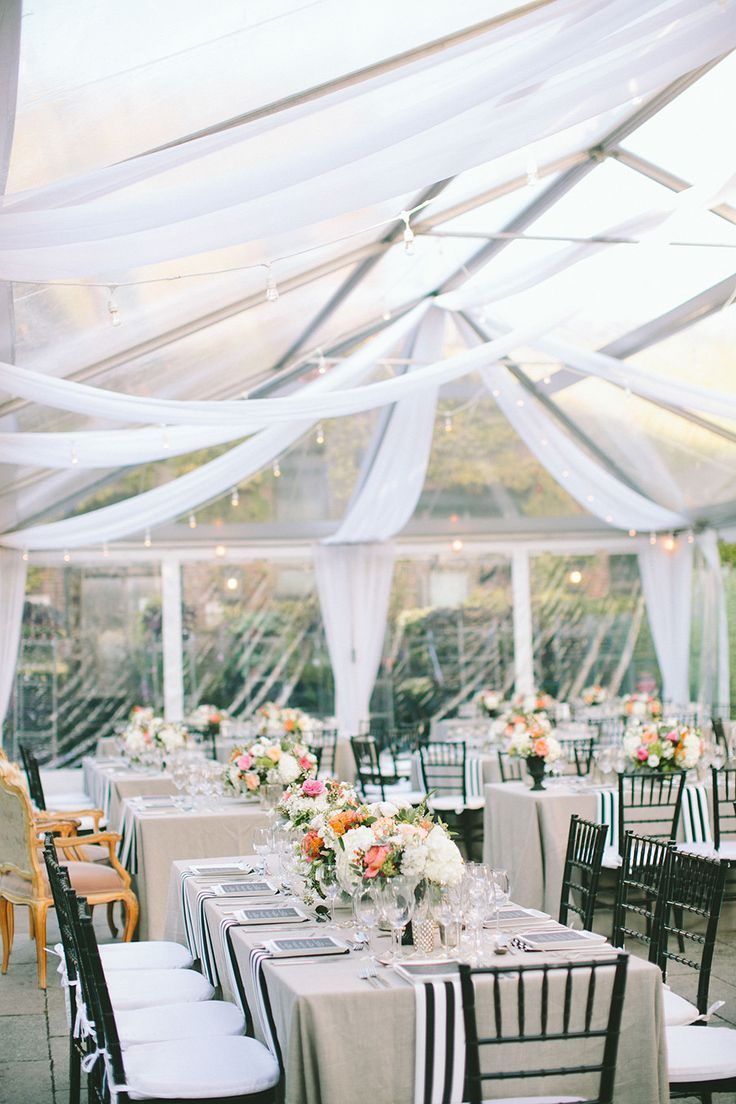 Modern New York Wedding at The Foundry | Tent wedding, Reception and ...