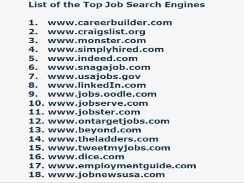 a listing on the top job search engines and the best way to boost
