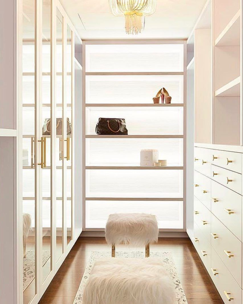 "CB2 on Instagram ""closet goals / back lit shelves to"