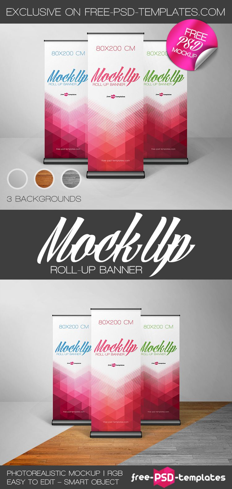 Free Roll-Up Banner in PSD | Free PSD Templates | Graphic Design ...