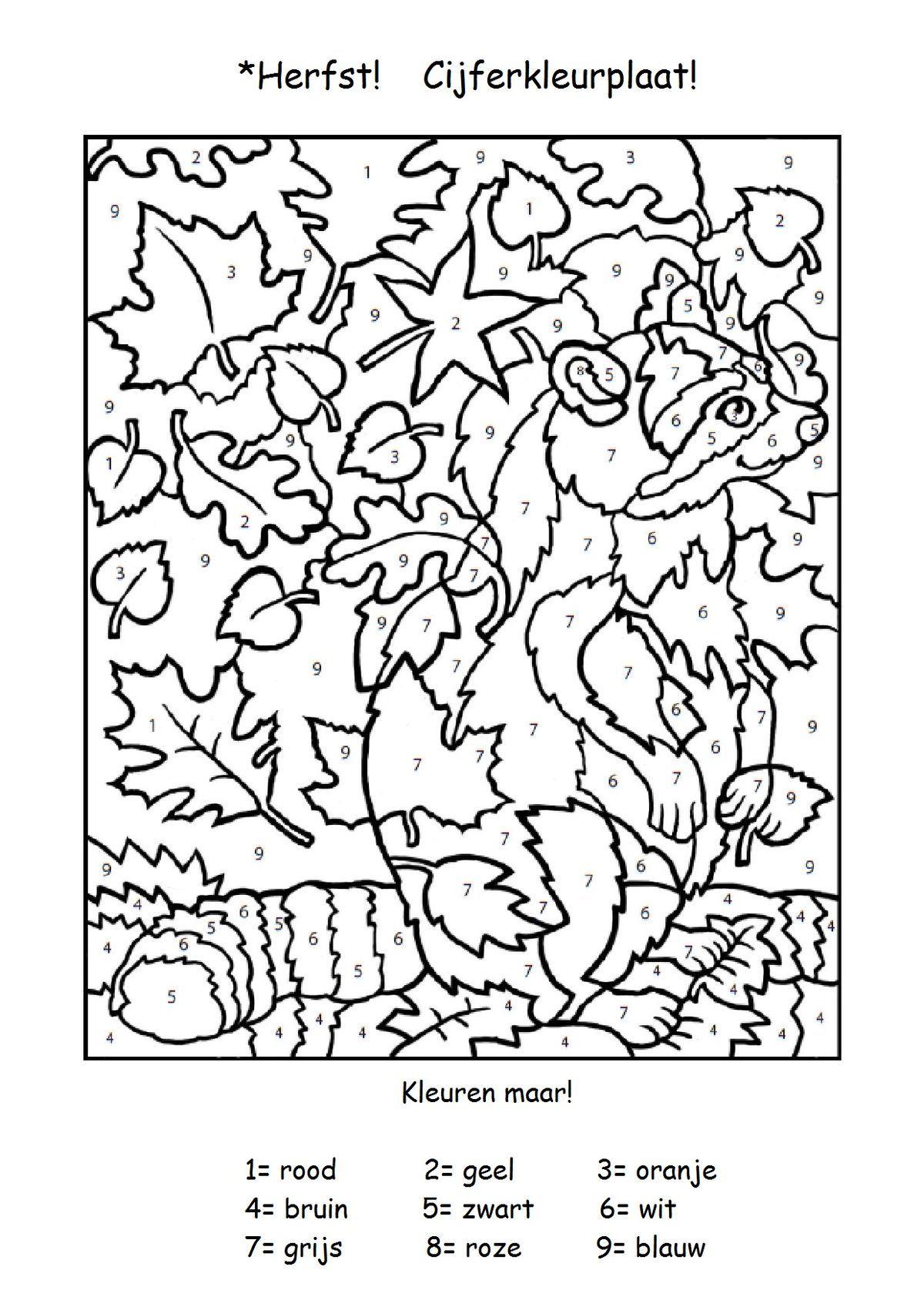 Bildergebnis für herbst im kindergarten arbeitsblätter Schule Arbeitsblätter Vorschule Grundschulen Malen Nach Zahlen