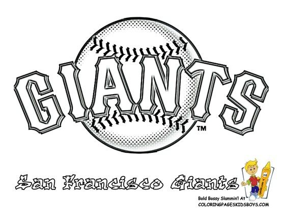 giants coloring pages baseball bat - photo#1