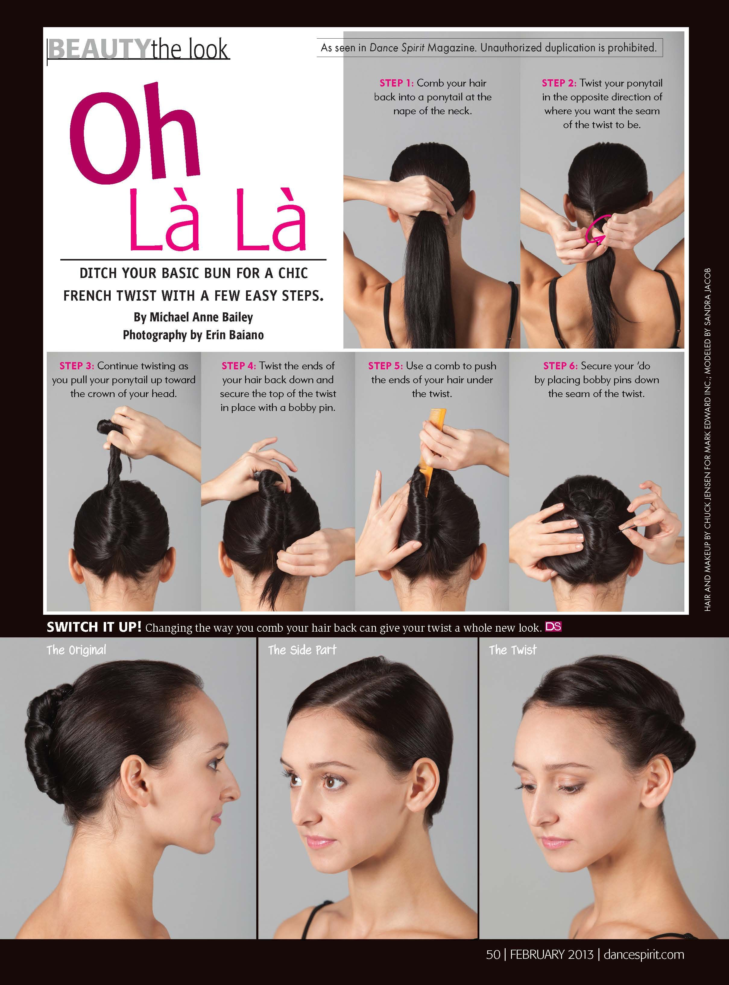February Beauty Dance Competition Hair French Twist Hair Dance Hairstyles