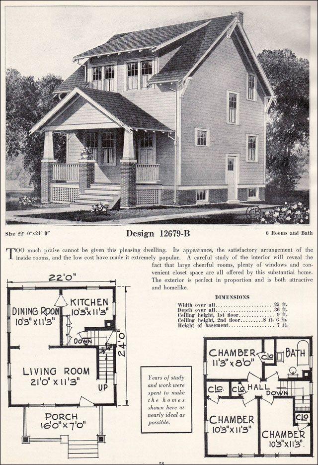 1920s Craftsman Bungalow Craftsman Plan Cottage C L Bowes Company 1920s Vintage Vintage House Plans Craftsman Bungalow House Plans Craftsman House