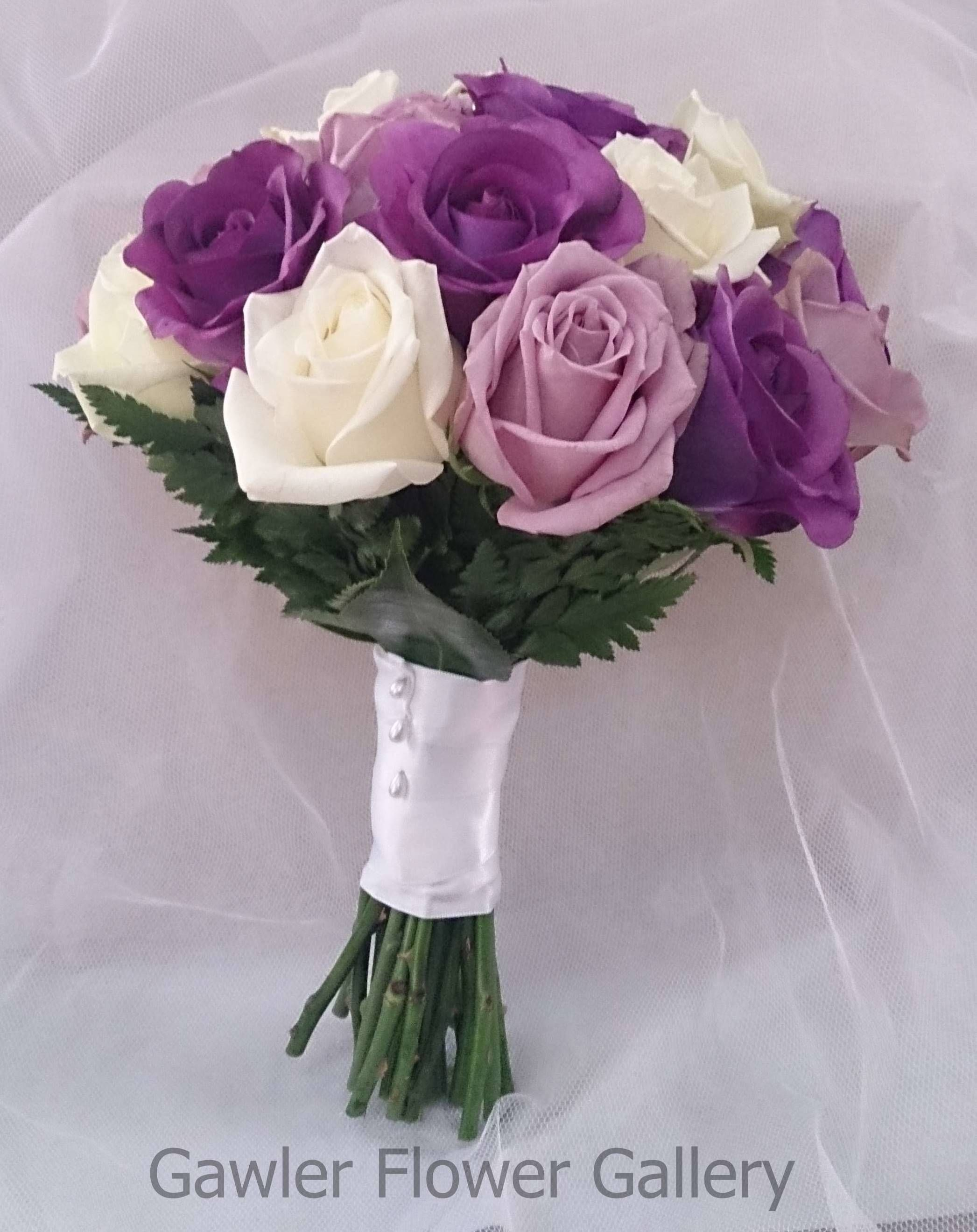 Gawler Flower Gallery Artificial Purple Roses Fresh Lilac Roses