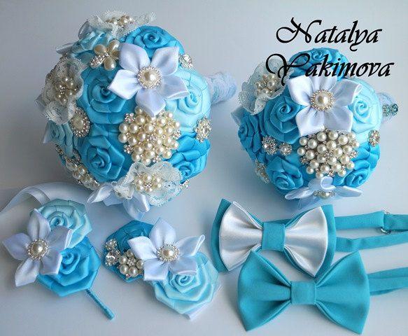 Broche ramo ramo de novia Bouquet de bodas Bouquet de por singleday