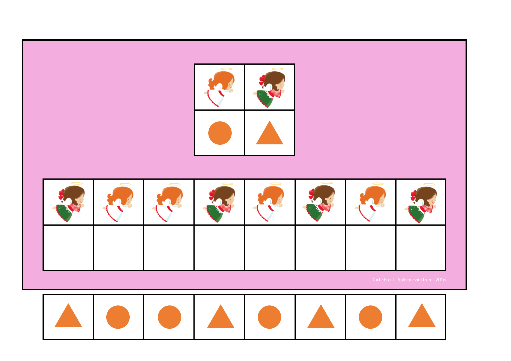 Board And Tiles For The Angel Visual Perception Game By