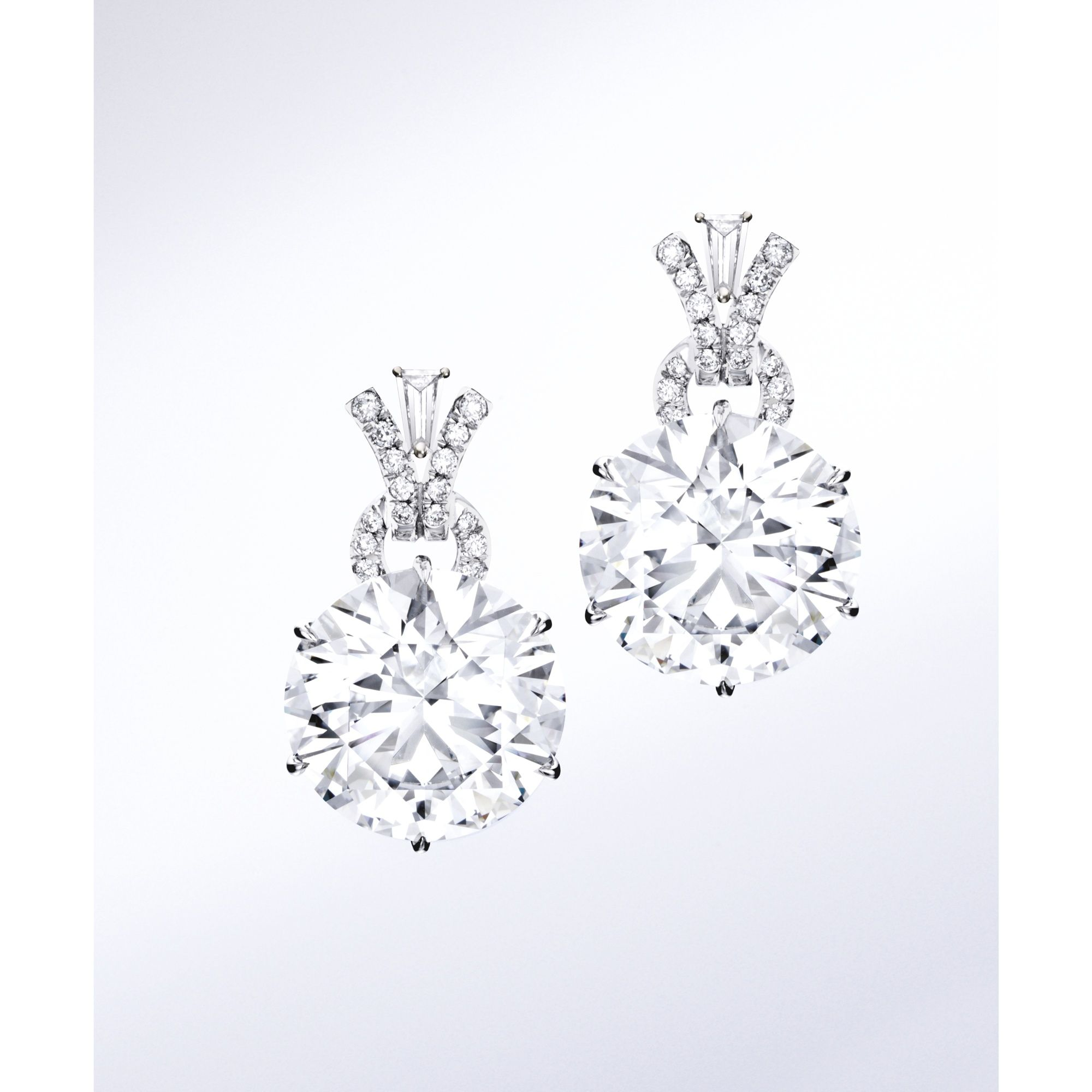 Fine Pair of Diamond Earrings Diamonds Pinterest