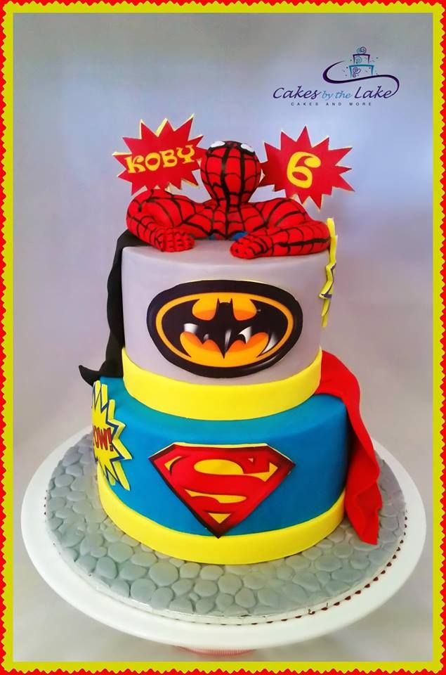 Superhero Cake Every Little Boy Loves A Superhero And Koby