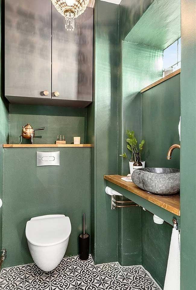 Grünes Badezimmer: komplette Anleitung, um diese kleine Ecke zu dekorieren #smalltoiletroom