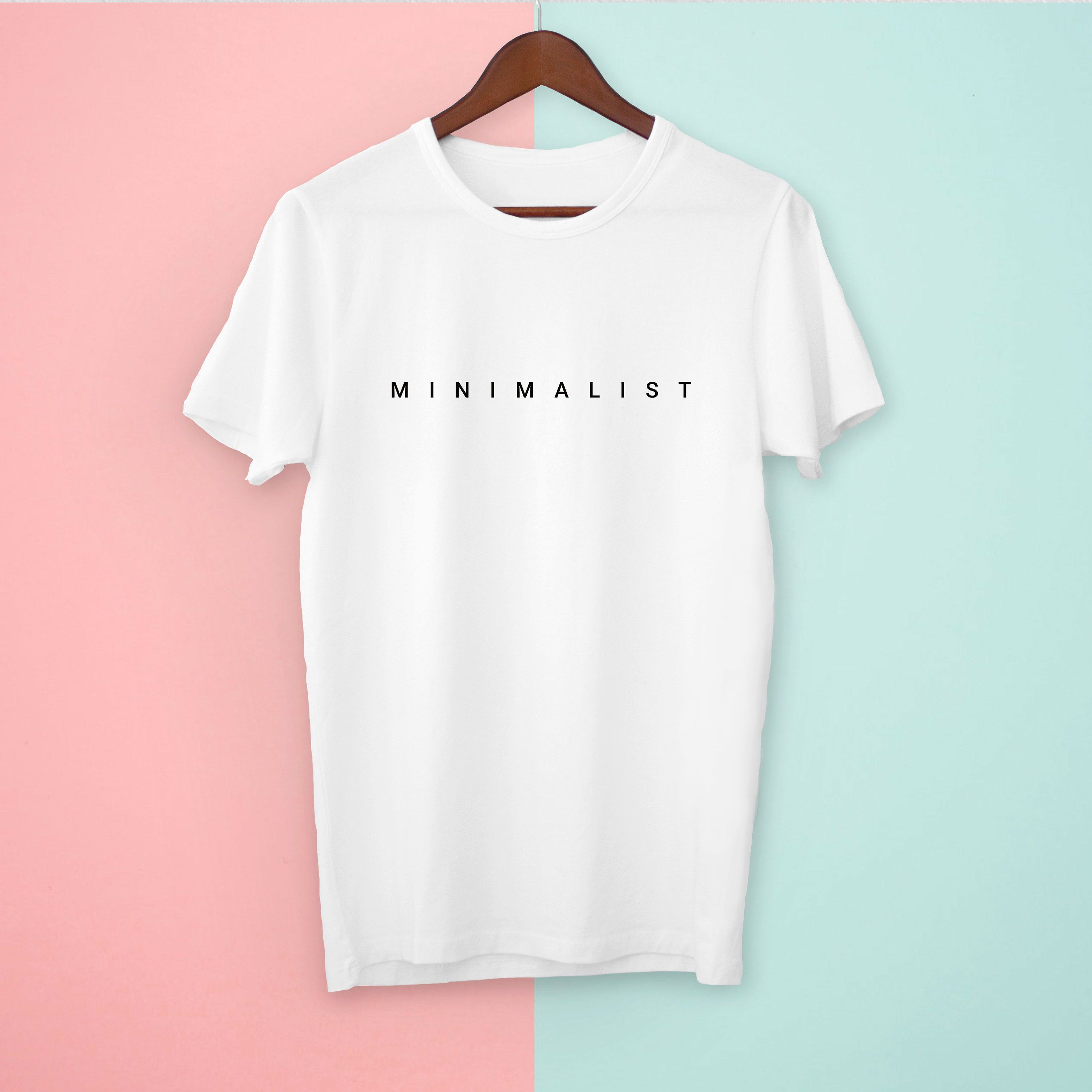 Minimal T Shirt For Minimalists Join The Movement And Simplify