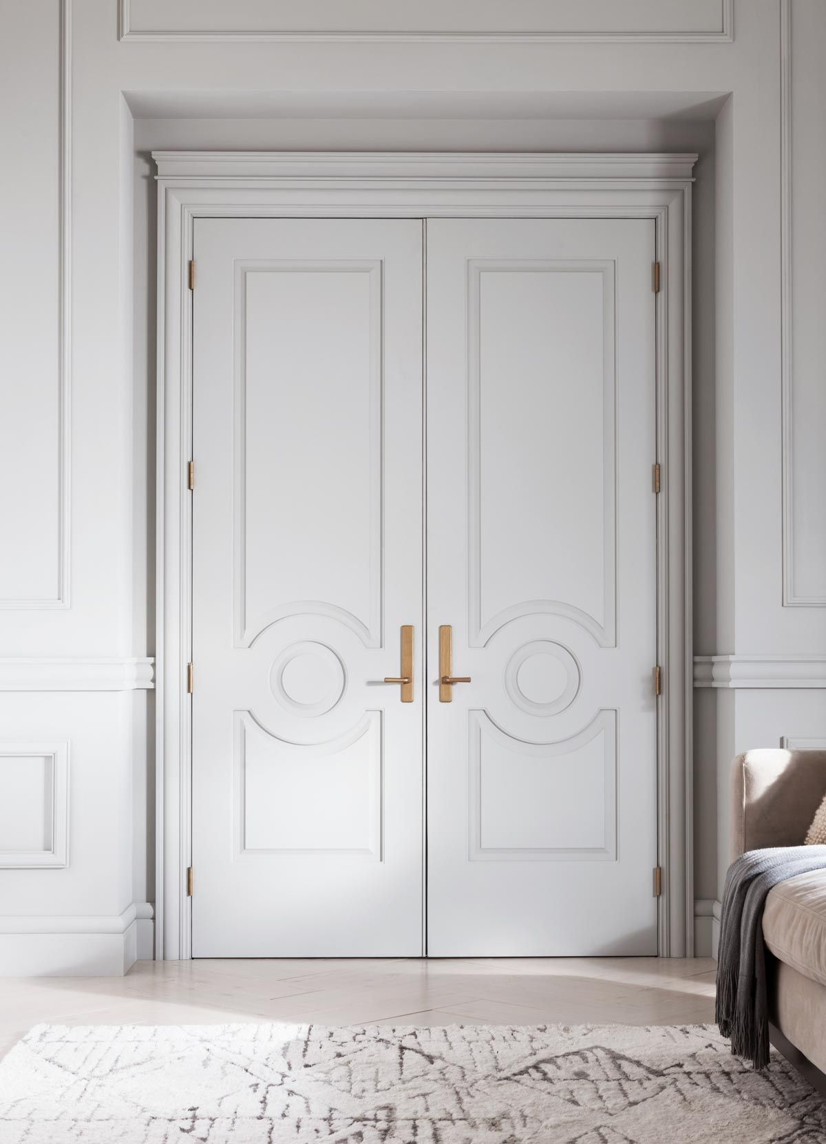 Elevated Style With Moulding Amp Trim Double Doors