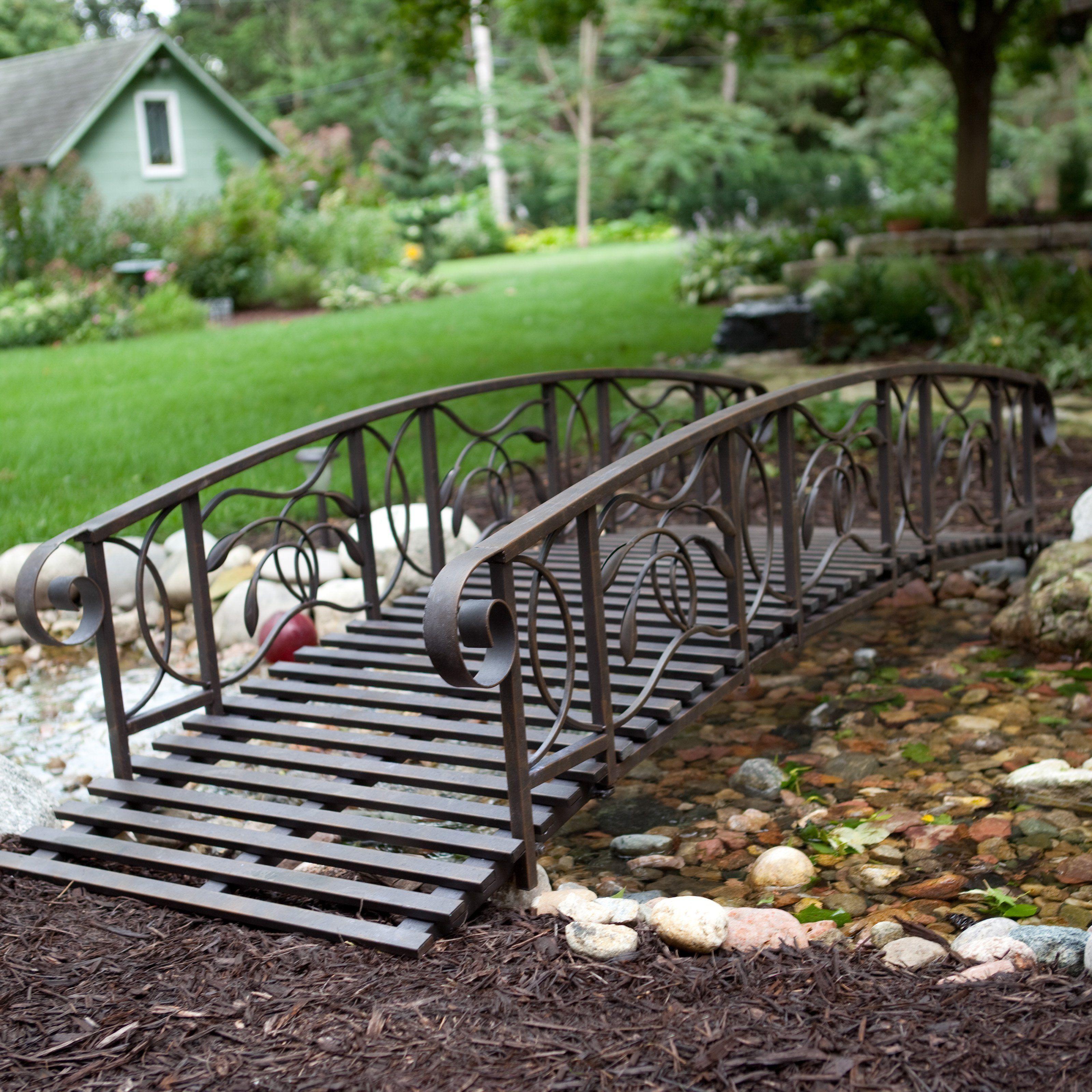 Have to have it. Coral Coast Willow Creek 8-ft. Metal Garden Bridge ...