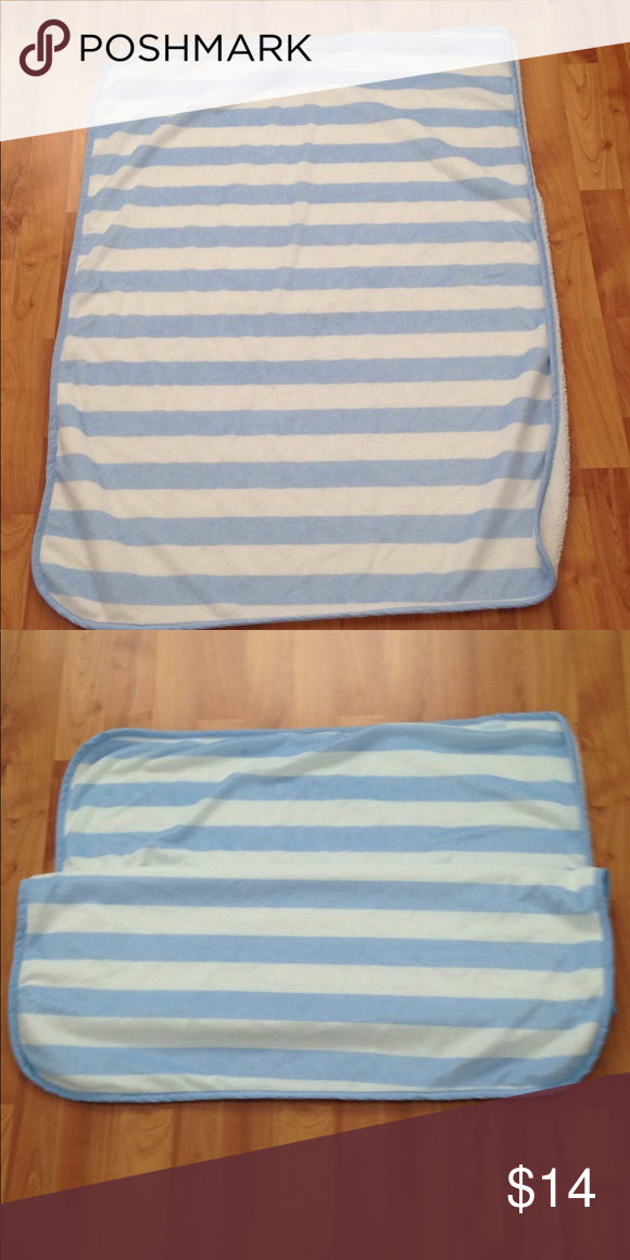 Carters Soft Baby Blanket This Blanket Is 100 Polyester And Is Very Soft The Blanket Is White With Light Blue Strips The Dimensions Soft Baby Blankets Blanket Baby