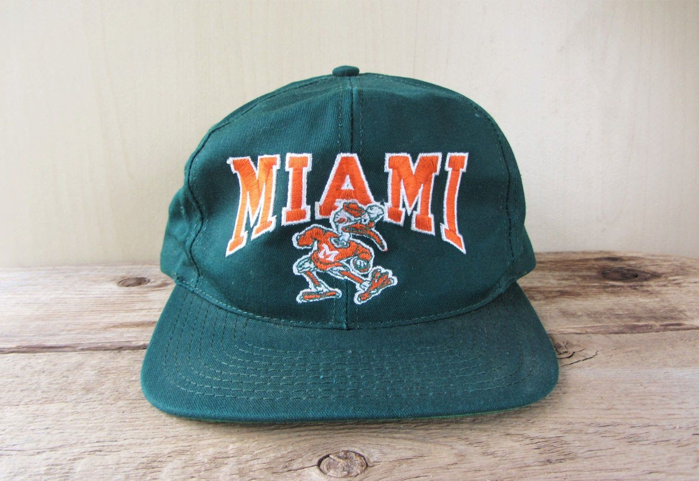 Miami hurricanes university original vintage 90s snapback