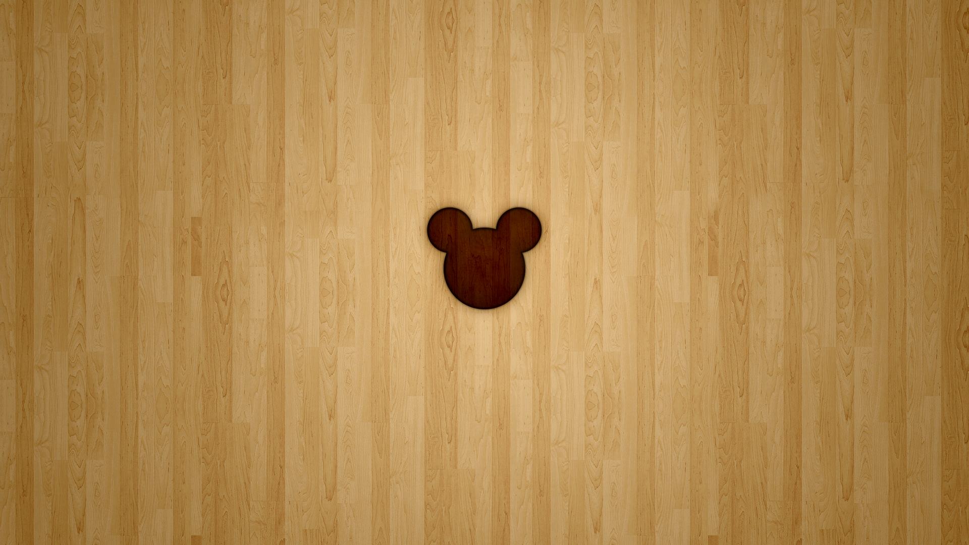 Mickey Disney Minimalistic Wood Wallpaper Disney Minimalist