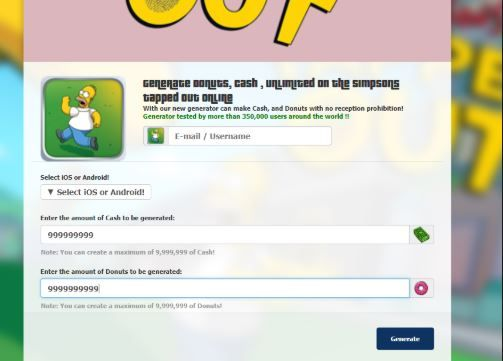 Simpsons Tapped Out Hack Tool 2018 Get Unlimited Free