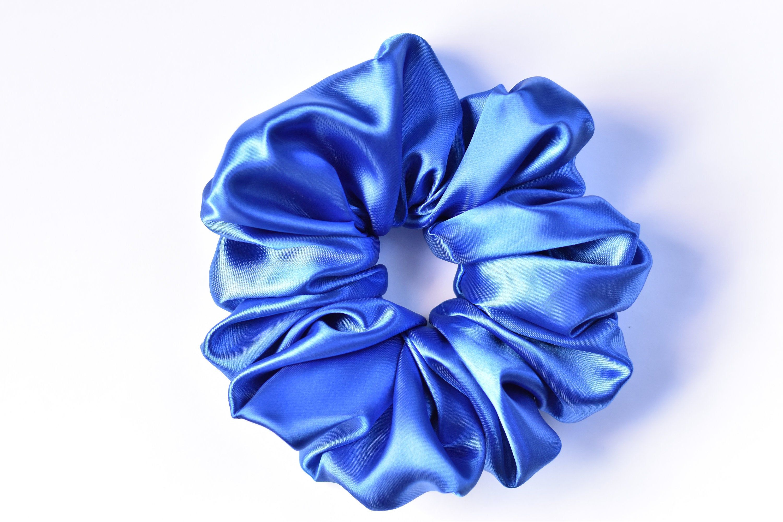 Blue  Leaves  Scrunchies