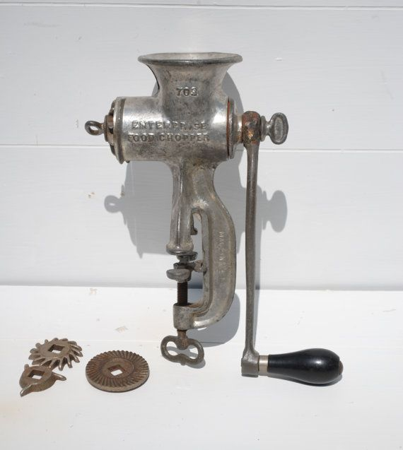 My grandpa still uses one of these babies to grind the meat for ham salad and now I want one! :)
