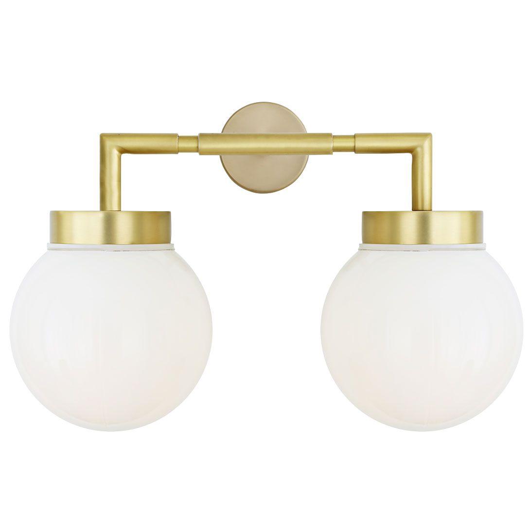 Badezimmer-Wandlampe mit zwei Kugeln, Ø 15 cm, IP65 von Aire ...
