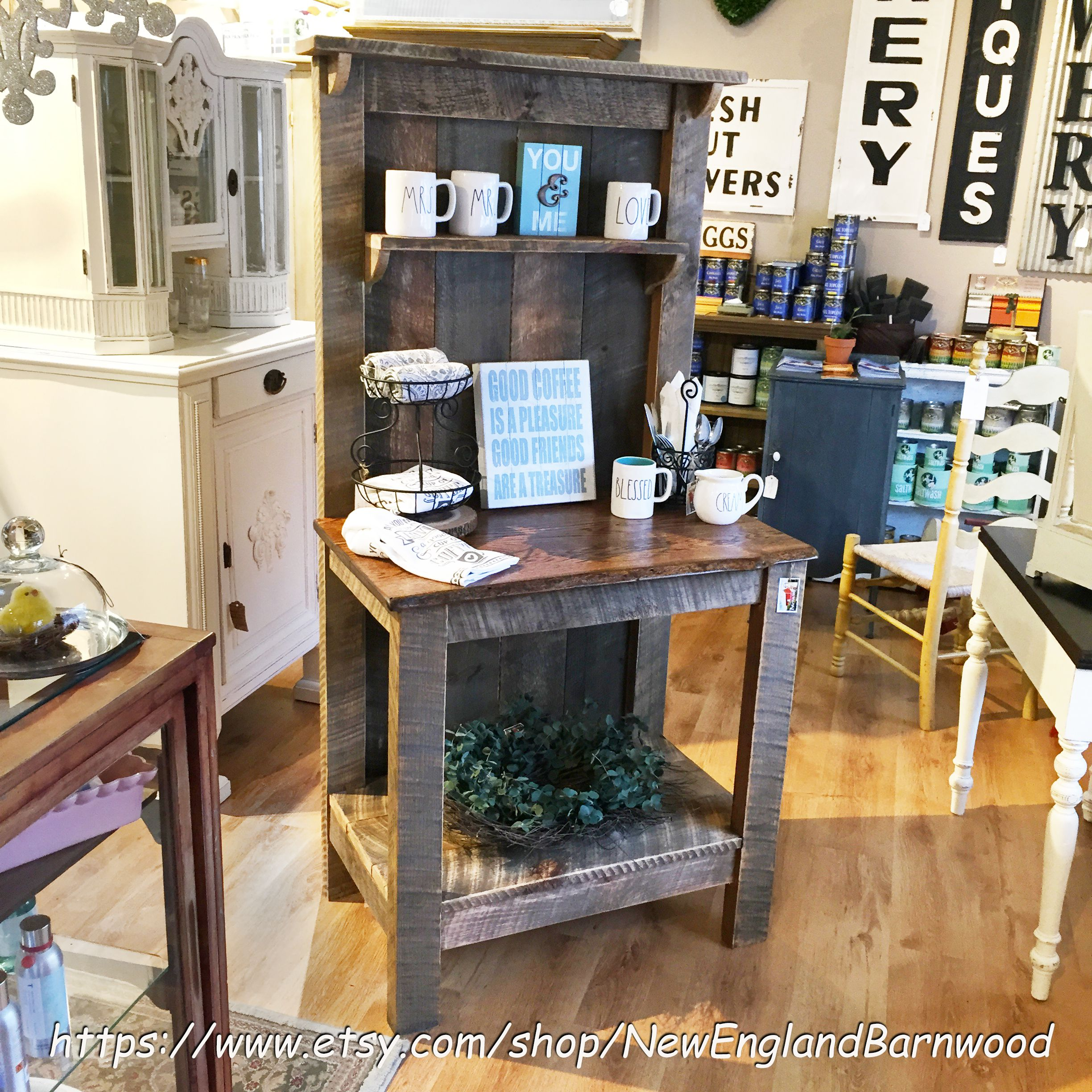 This Rustic Coffee Station would be a great addition to your Rustic Home  Decor and a