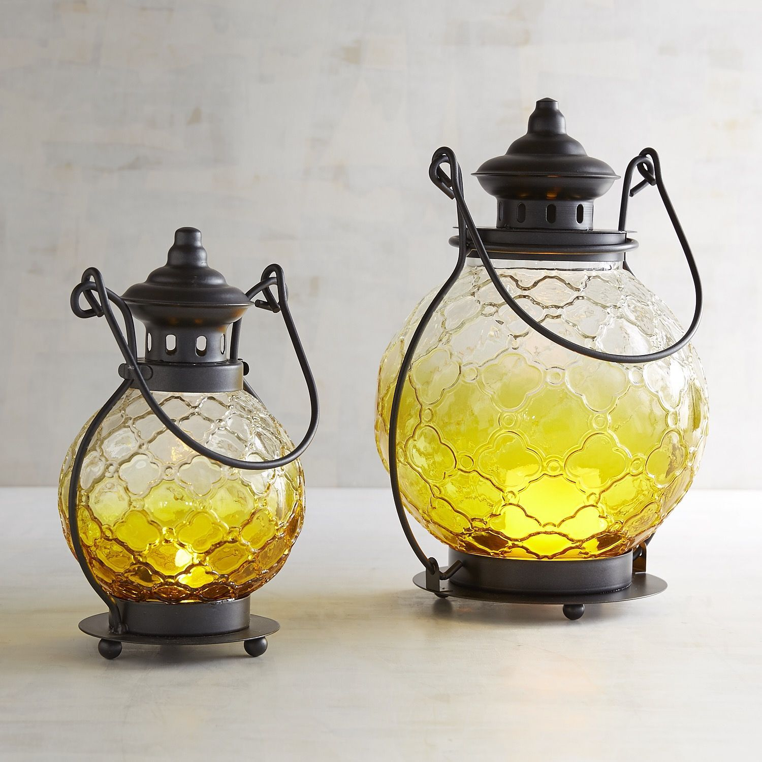ombre lanterns products and glass yellow medallion pin