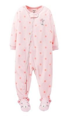 e81104ab1 Baby Girl Carter s Mouse Footed Sleeper Pink 12-24m