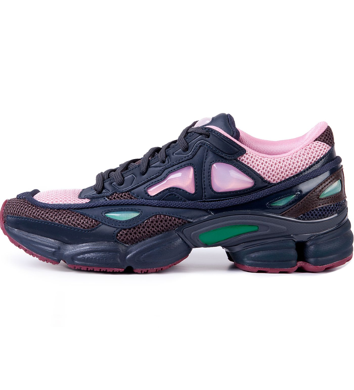 30737ce28228a Adidas x Raf Simons Pink Ozweego 2 Runner In Runner On Basic Sole ...