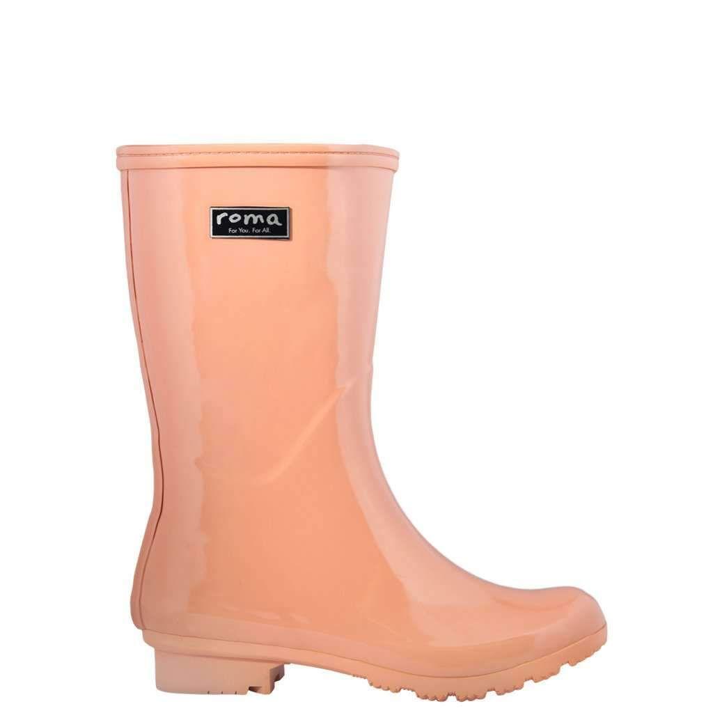 Emma Mid Blush Women S Rain Boots Pink Rain Boots Rain