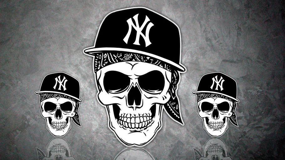 Hip Hop, Caps, Rap, Skulls, Hip Hop Skulls in Caps