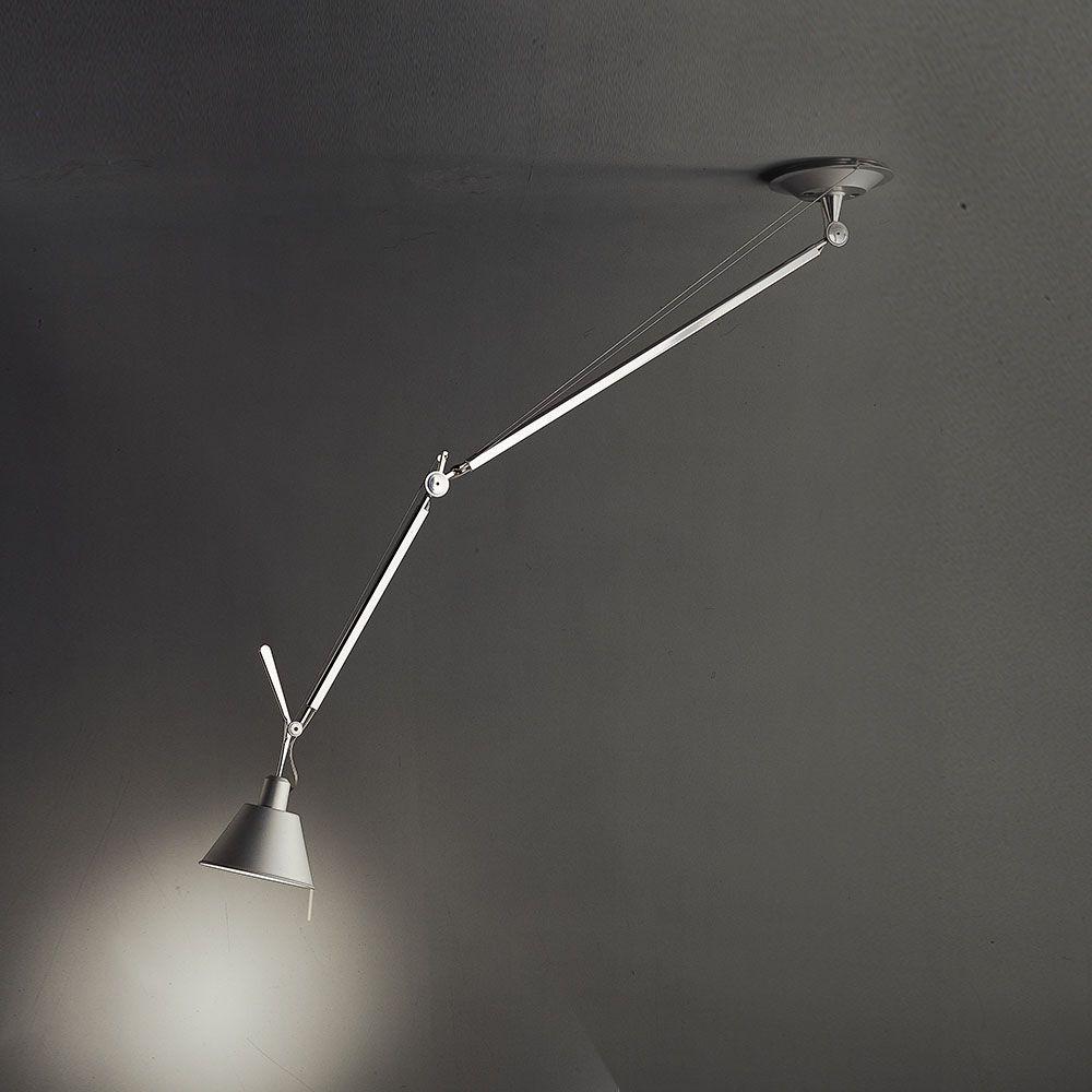 Tolomeo Off Center Suspension With Aluminum Shade By Artemide Tol1020 In 2020 Artemide Suspension Light Contemporary Lighting Design